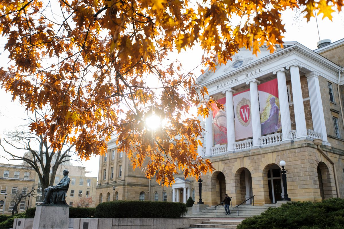 UW Bascom Hall in autumn