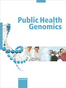Public Health Genomics journal cover